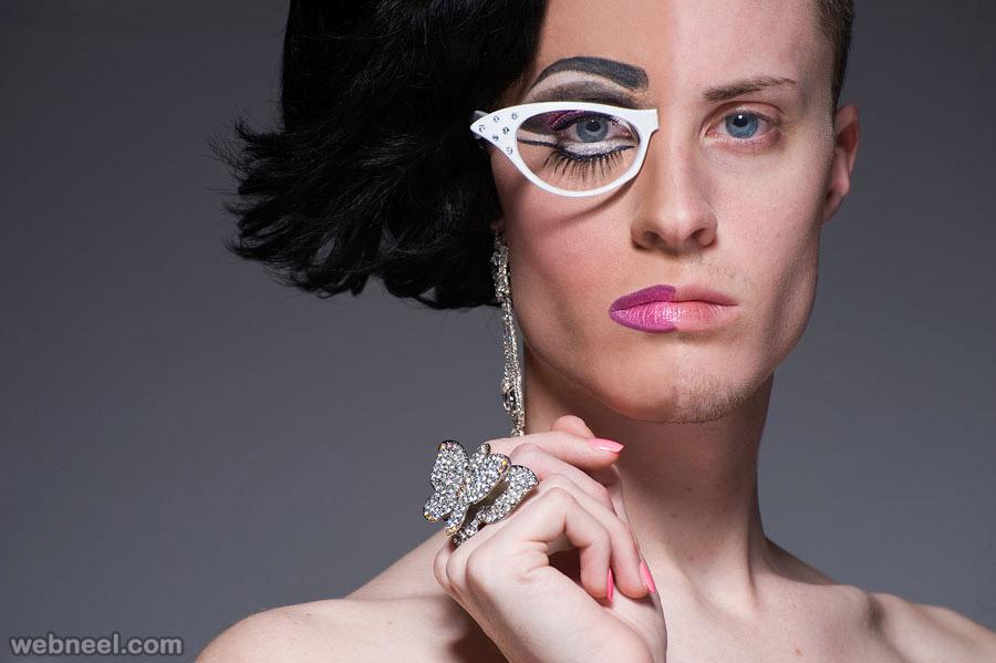 photo editing half woman by lelandbobbe