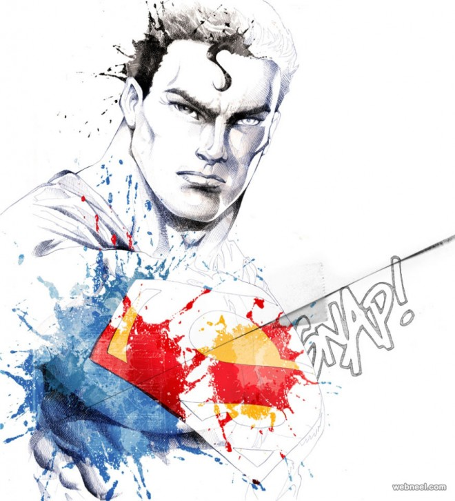 superman creative art by david despau