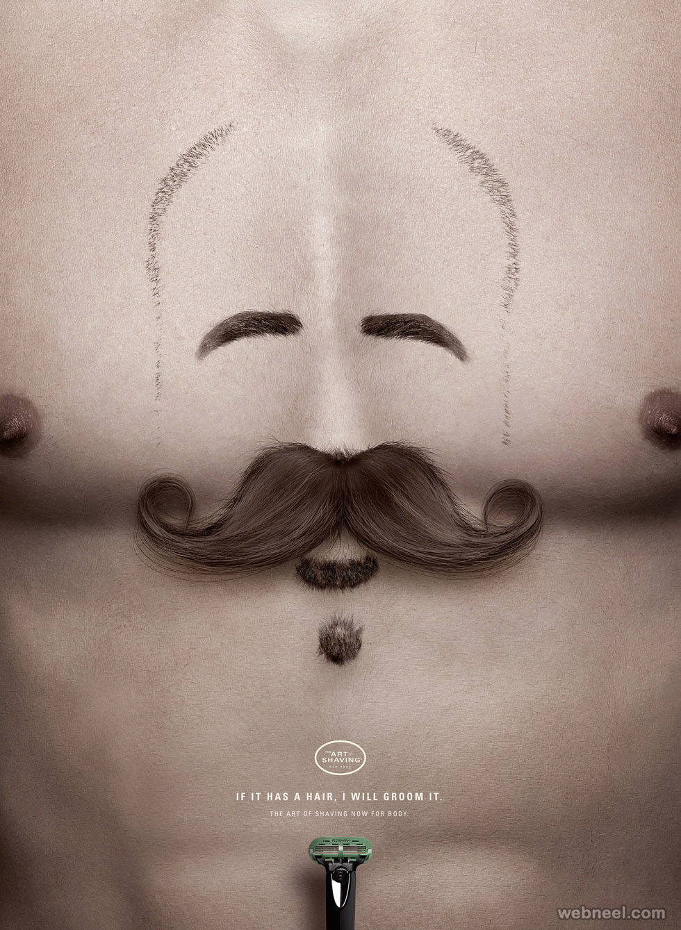 shaving creative advertising