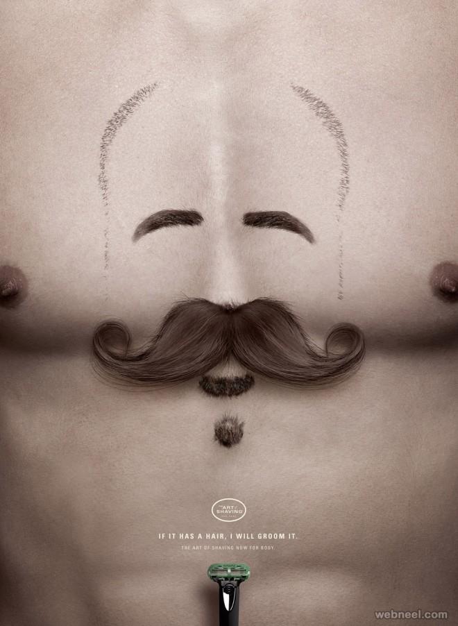 shaving creative advertising