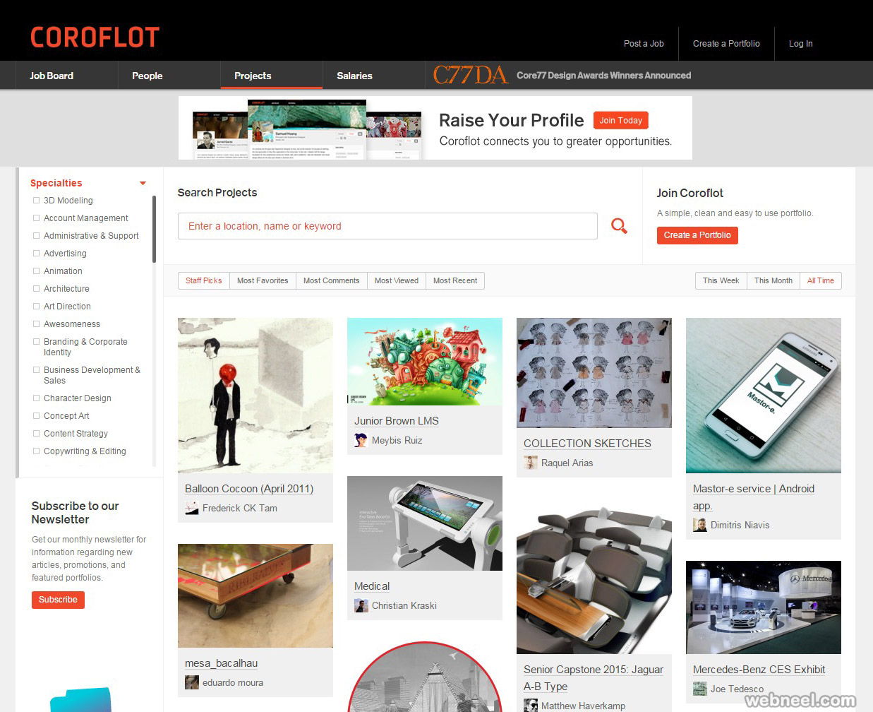 free website coroflot