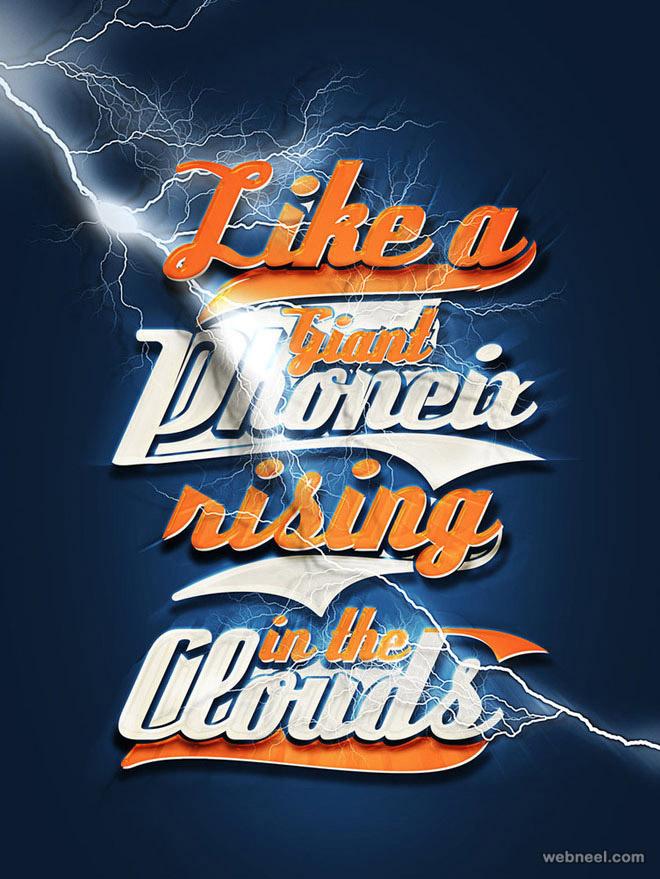typography design like a phoenix