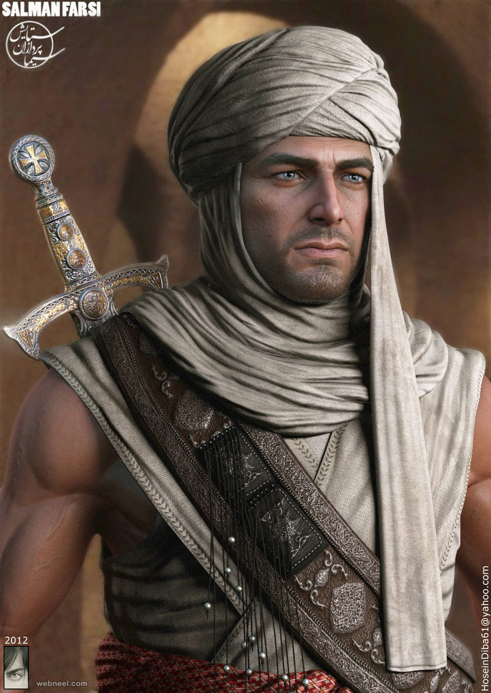 warrior 3d model hossein diba