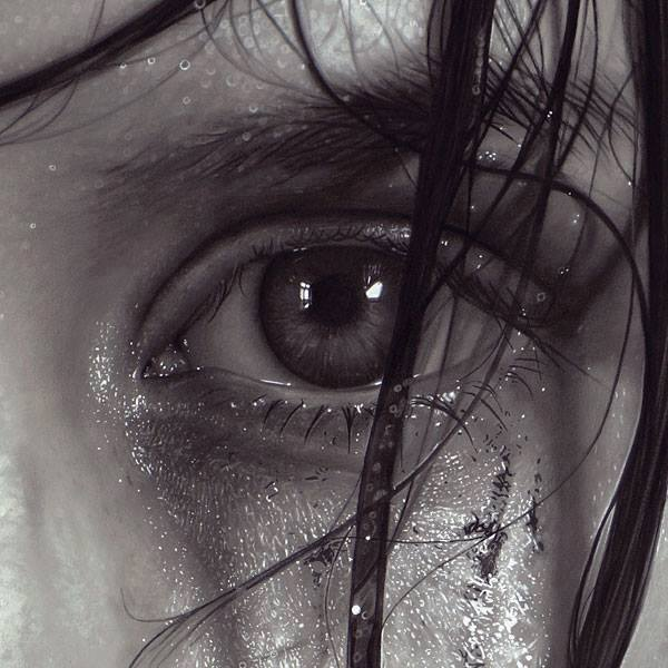 eyes realistic drawing by dirk dzimirsky