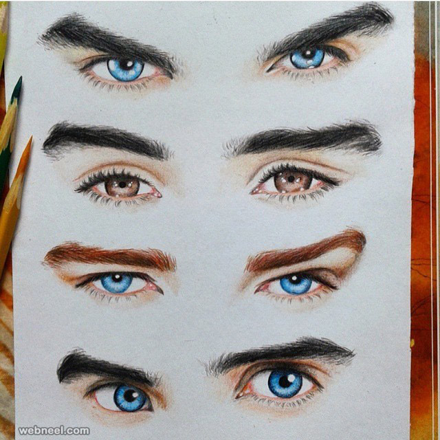 eyes drawing by maratart