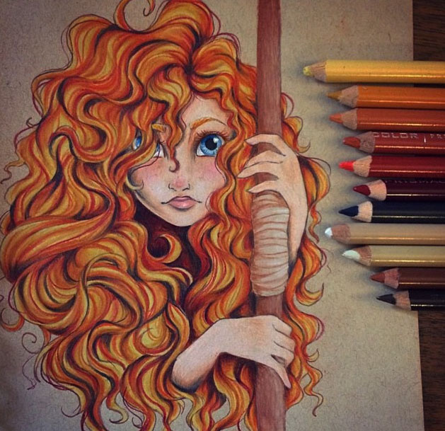 girl pencil drawing by hope hokulani