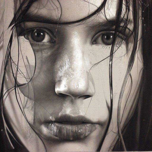 realistic drawing by dirk dzimirsky