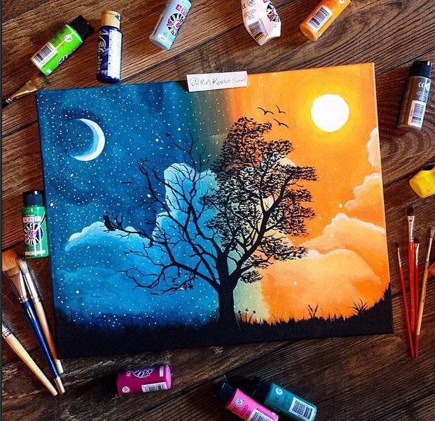 tree painting by rinkanasan