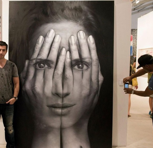 woman surreal painting by tigran tsitoghdzyan