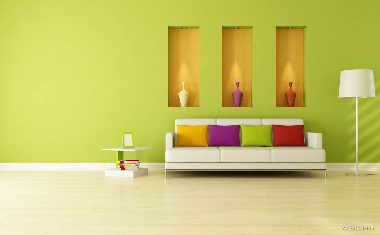50 Beautiful Wall Painting Ideas And Designs For Living Room Bedroom