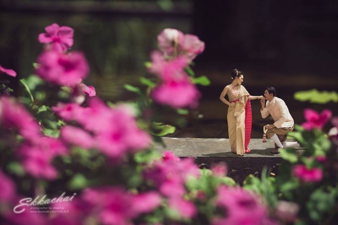 flowers wedding photography by ekkachai