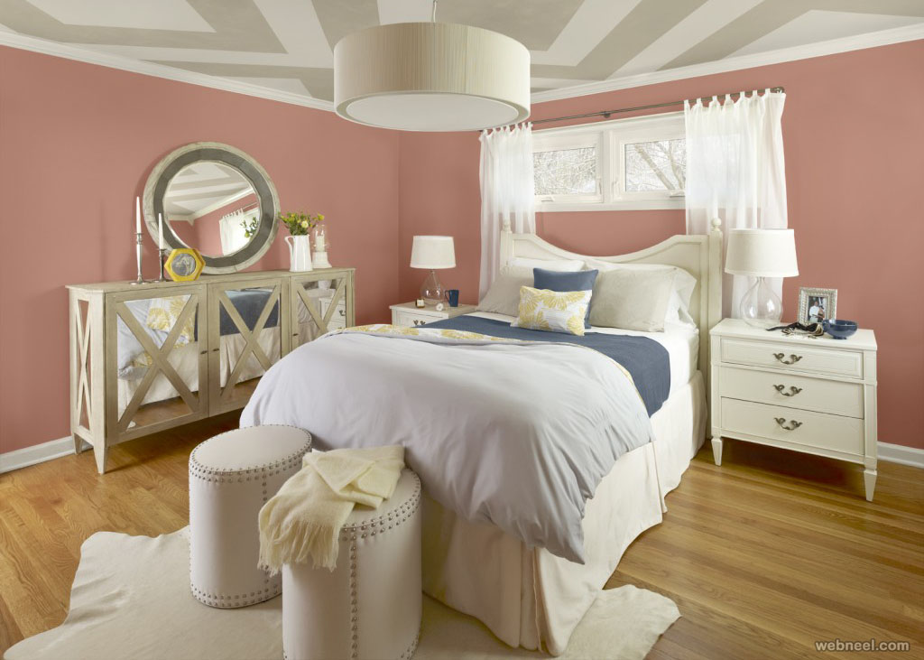 pink grey bedroom color schemes