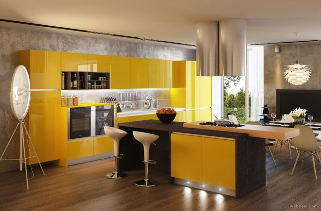 yellow kitchen wall paint ideas