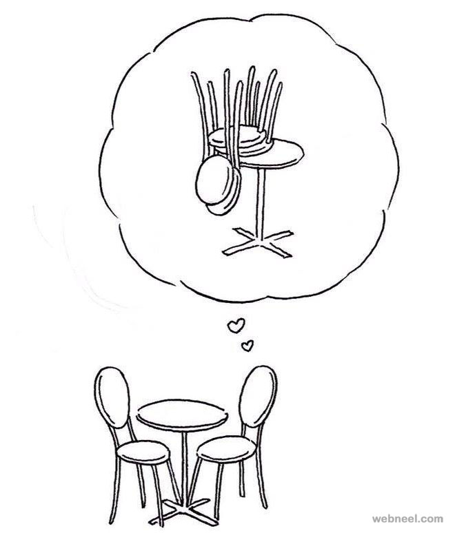 chairlove funny drawings by shanghai tango