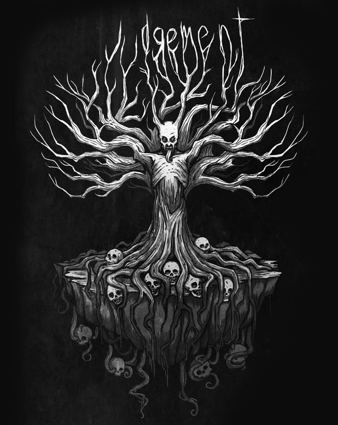 surreal tree drawing