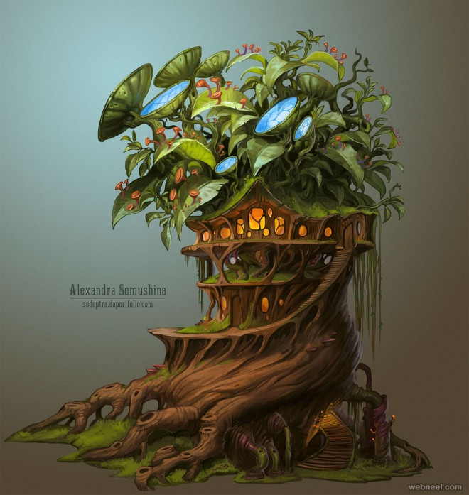 drawing trees biotech house by sedeptra