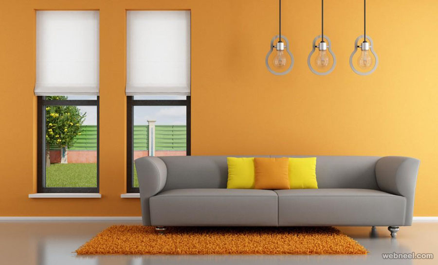 . 50 Beautiful Wall Painting Ideas and Designs for Living room Bedroom