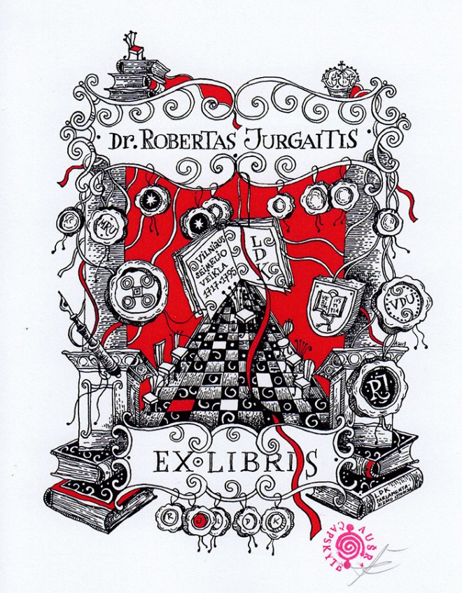 award winning ex libris art competition by capskyte ausra robertas