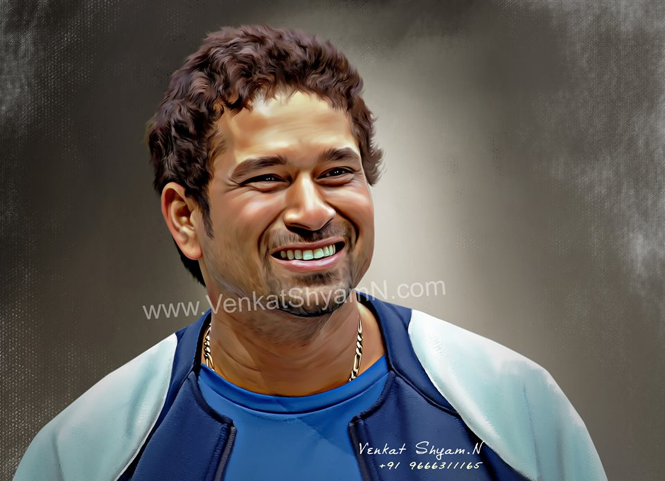 sachin tendulkar digital painting