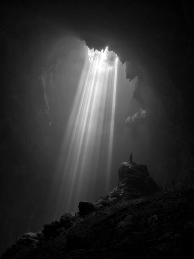 light from heaven monochrome photography by gunarto gunawan