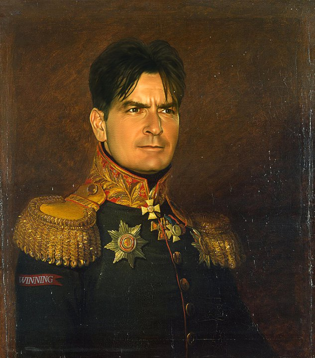 charlie sheen digital painting military portraits by steve payne