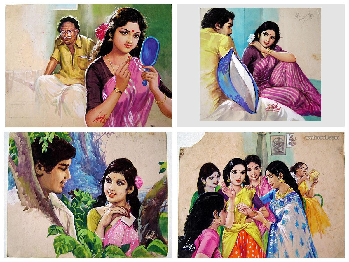 painting tamil nadu woman