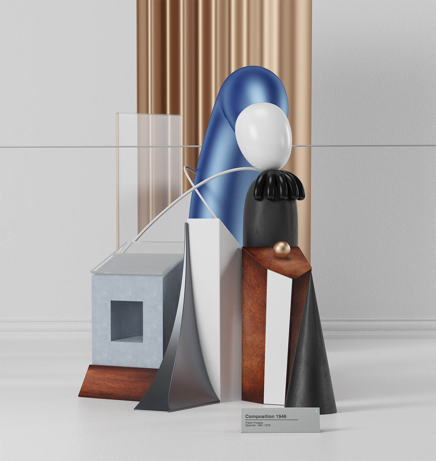 picasso painting 3d model composition