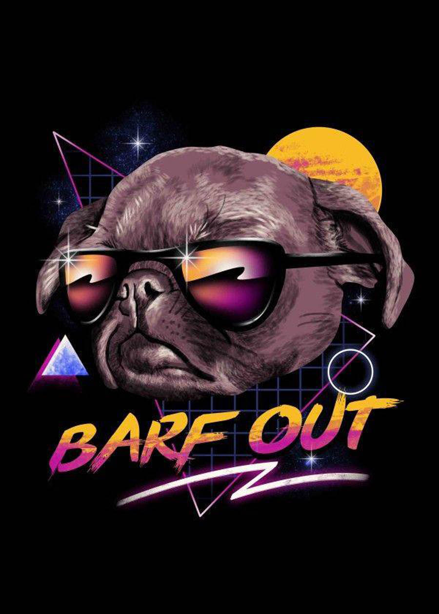 bare out typography design by displate