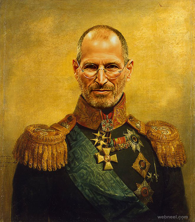 steve jobs digital painting military portraits by steve payne