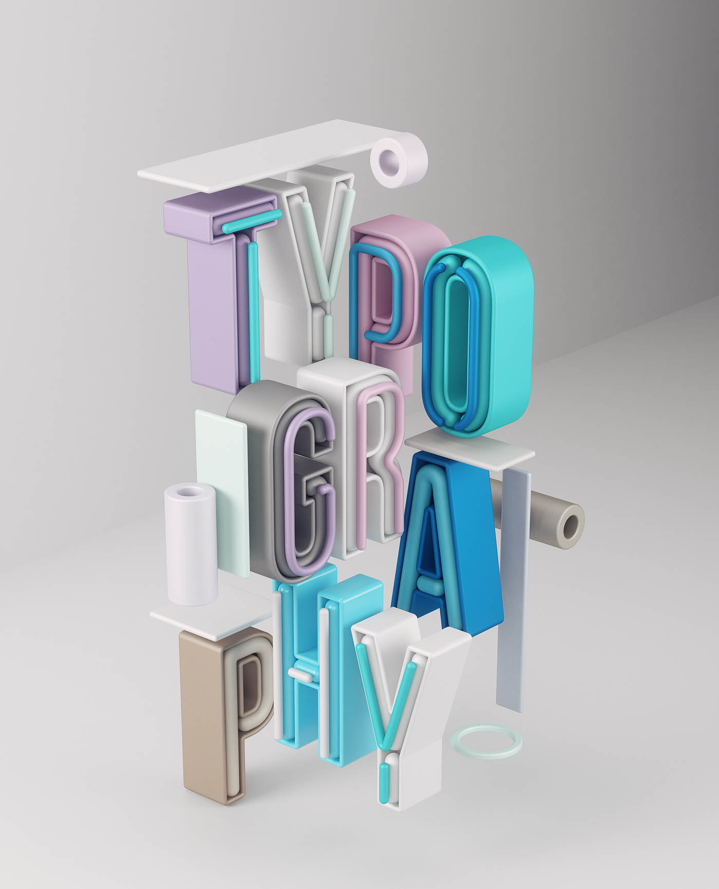 3d typography design typography by omanaquil