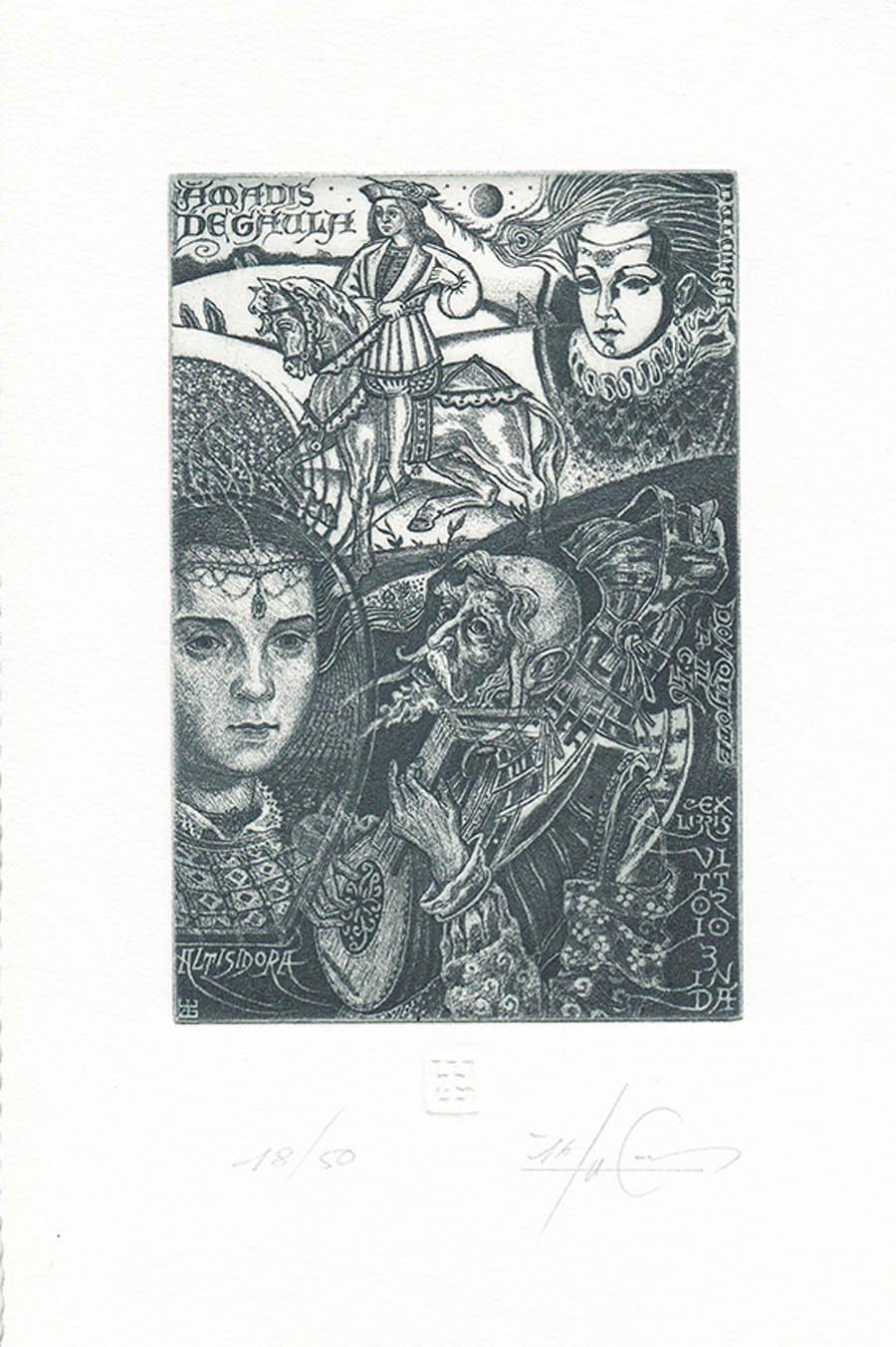 award winning ex libris art competition by don quijote