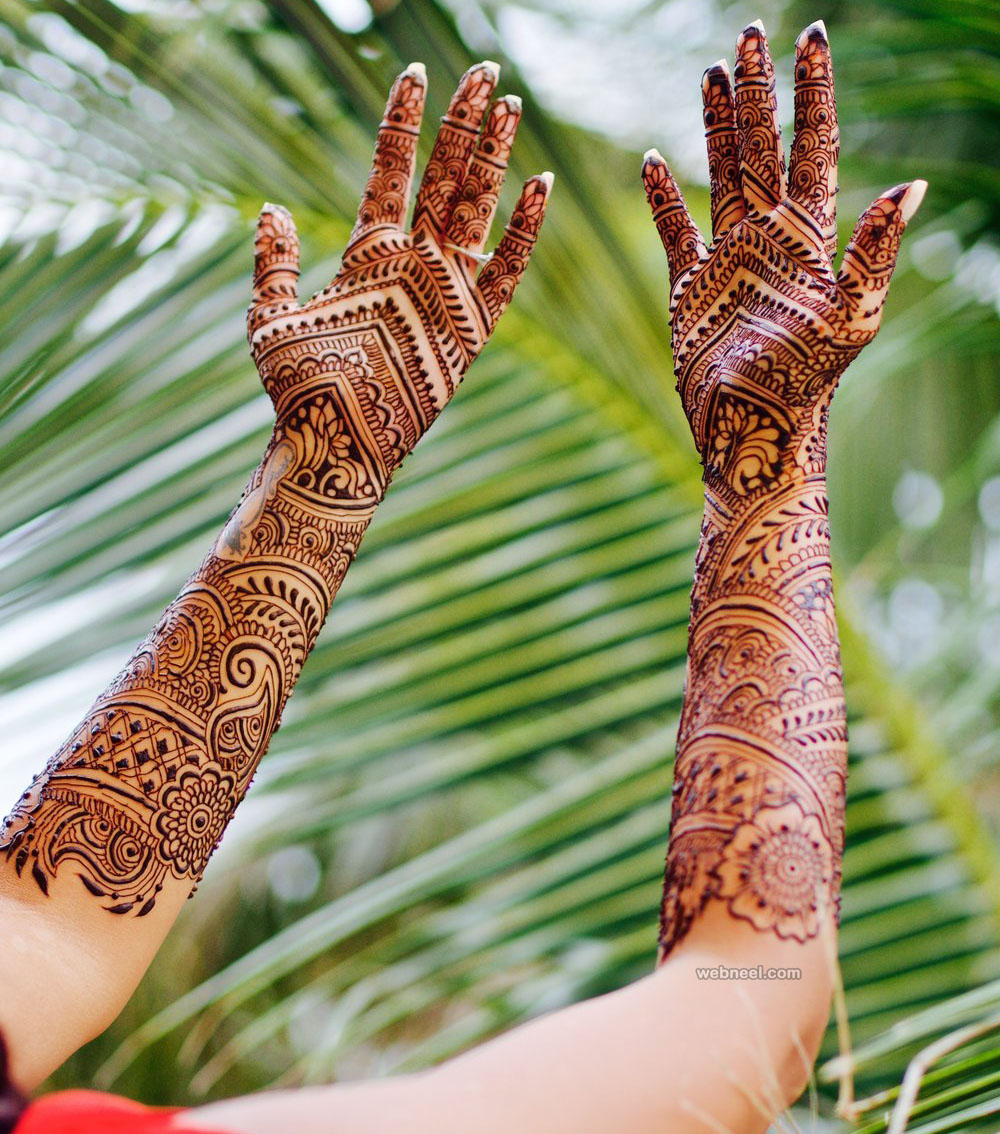 bridal mehndi design by darcy vasudev