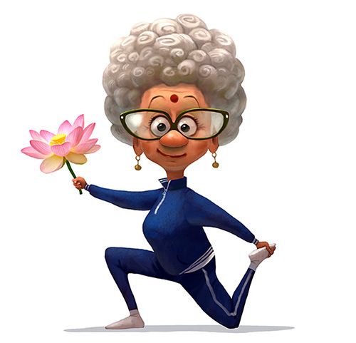 digital art character illustrationgranny by andrey gordeev