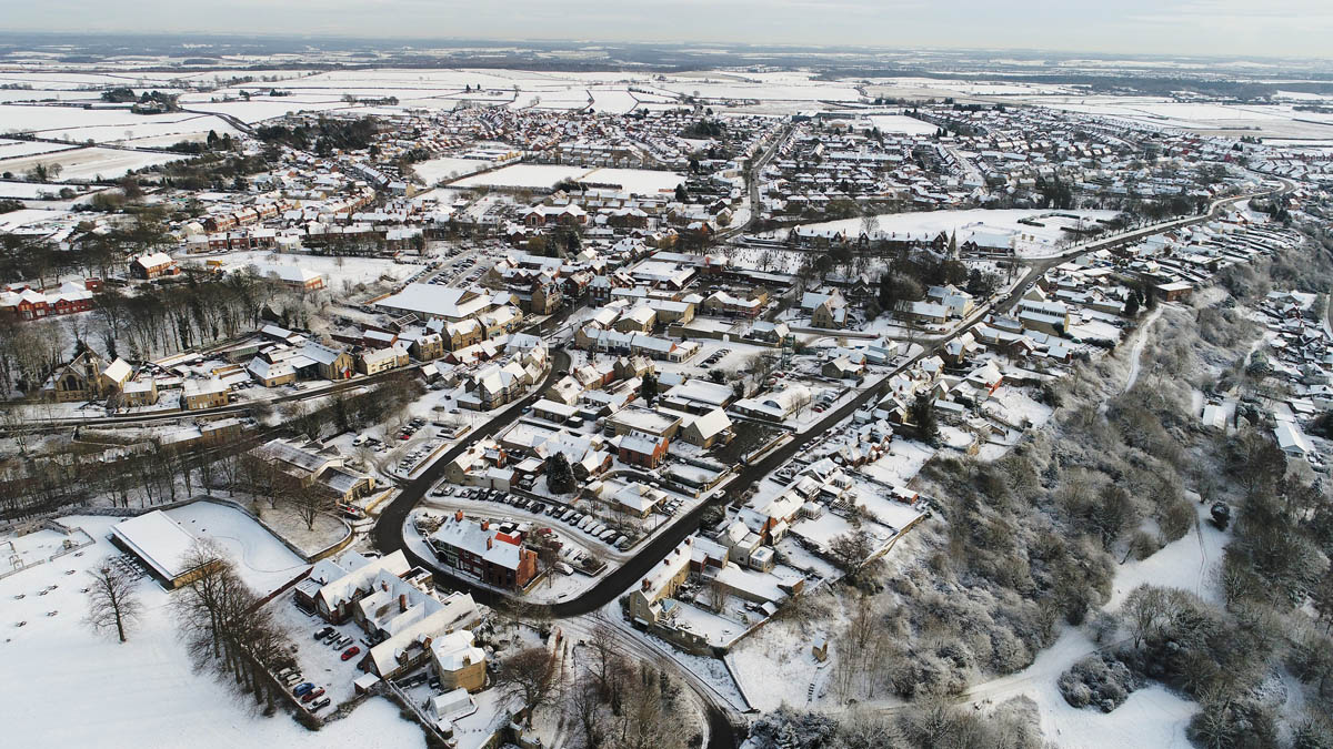 winter aerial photography by drone lee retallic