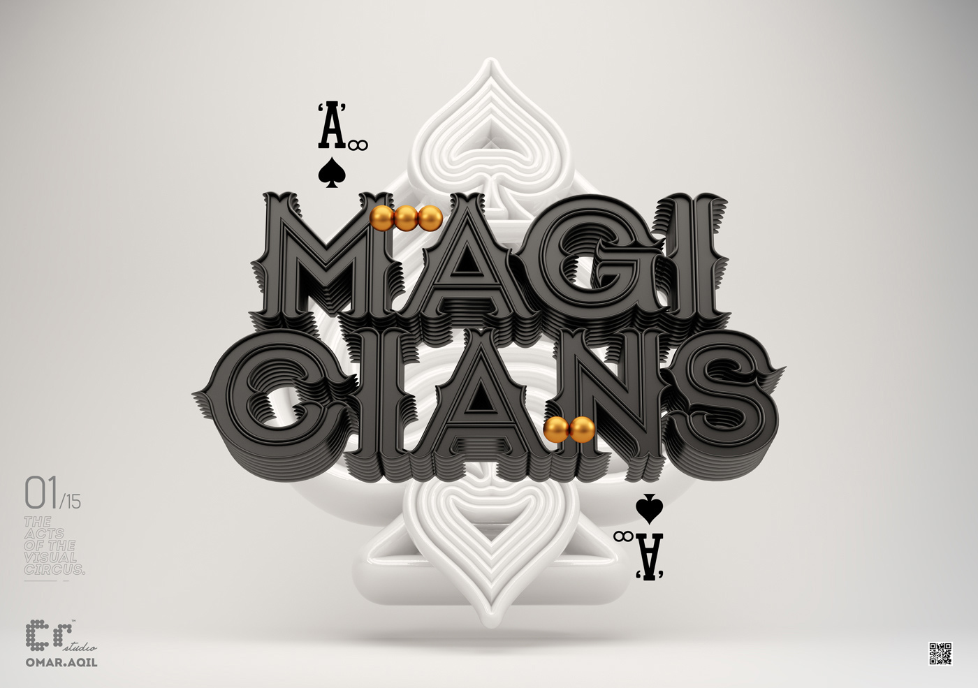 3d typography design magicians by omanaquil