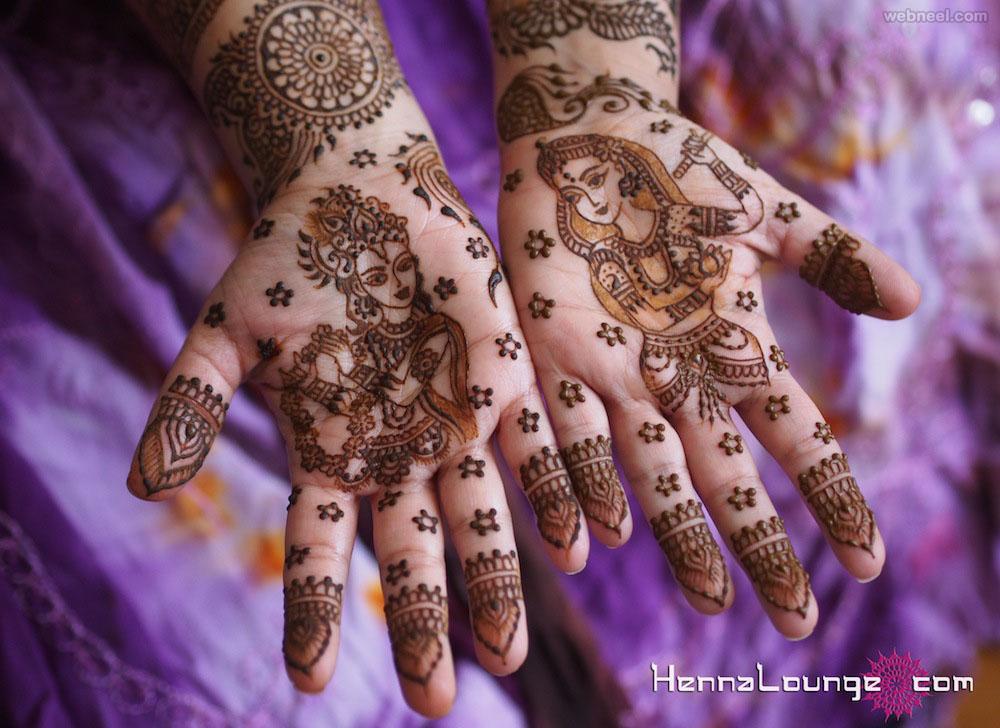 bridal mehndi design krishna radha