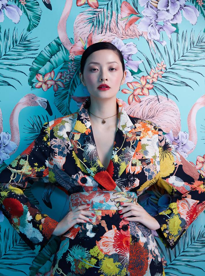 fashion photography flower by sandrine michael