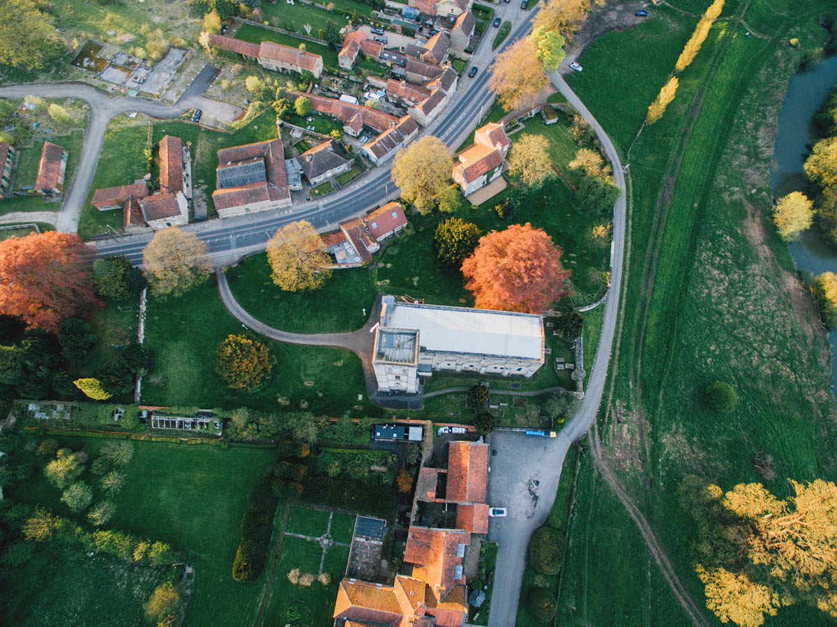village aerial photography drone by mathew king