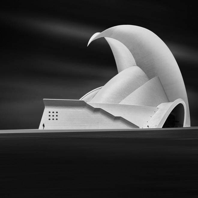 architecture monochrome photography by anna laudan