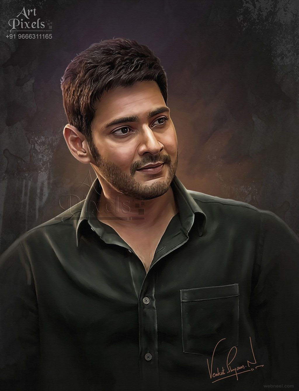 mahesh abu actor digital painting by venkat shyam