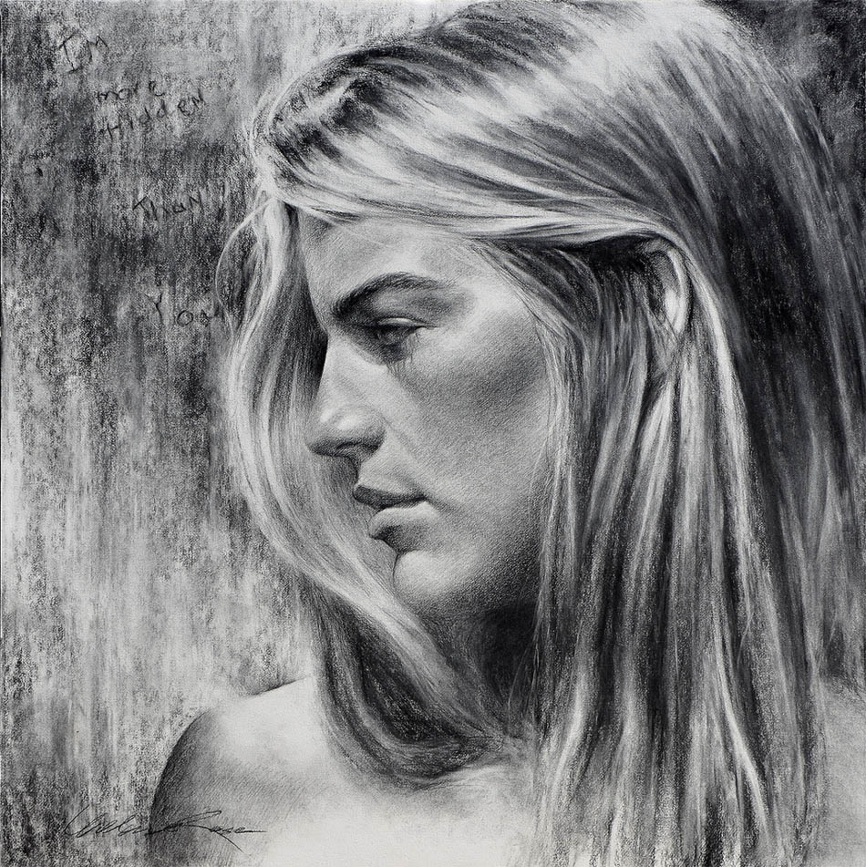 charcoal drawing by william rose