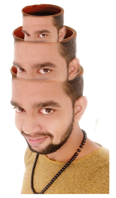 creative face photo manipulation by mayur