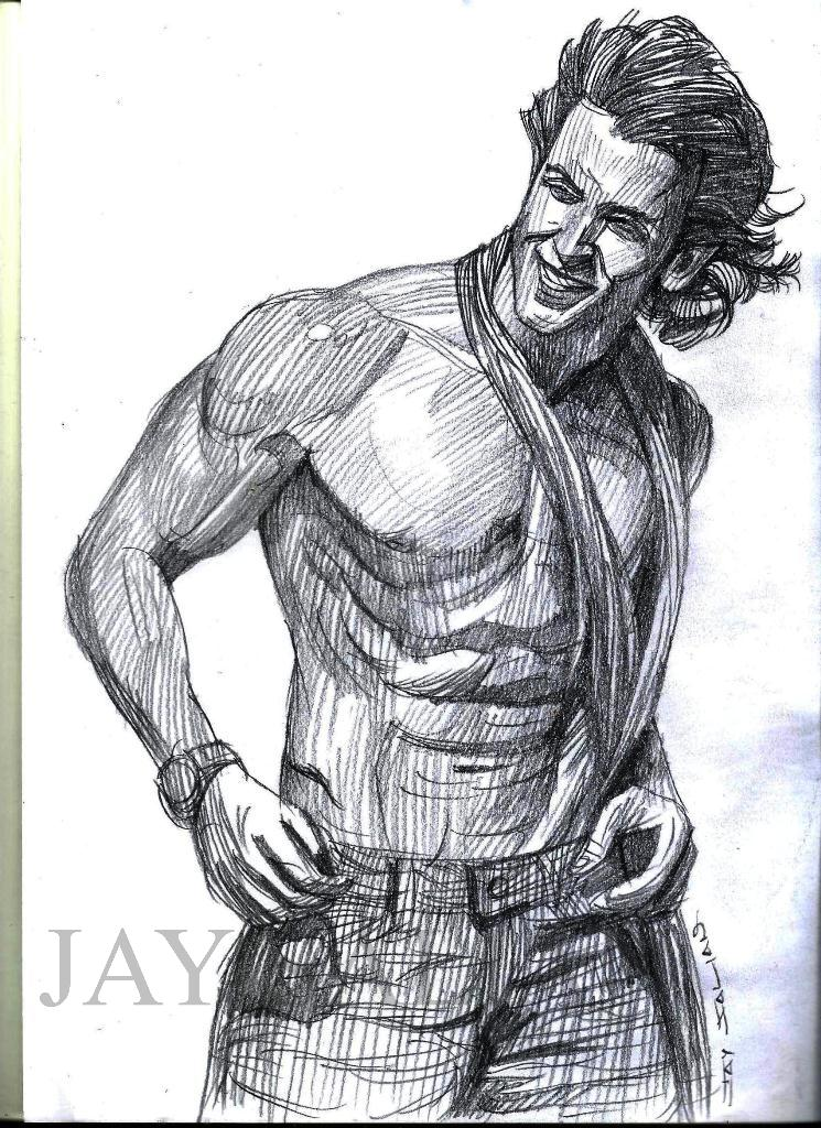 hrithik roshan actor pencil drawing by jay salian