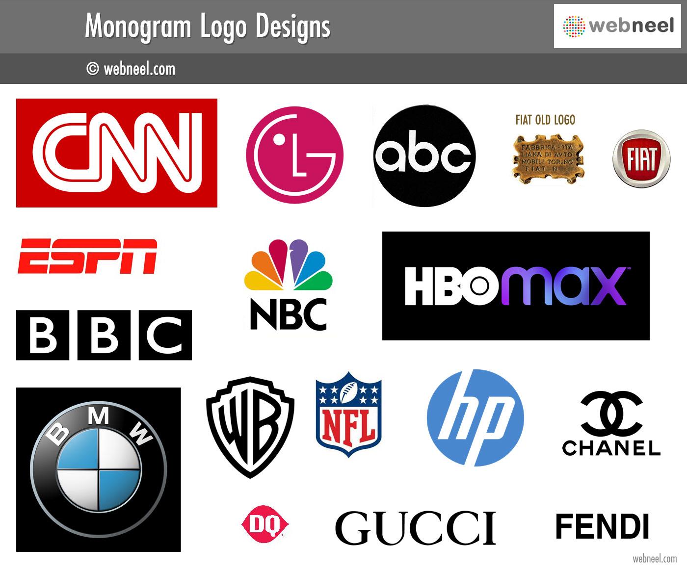monogram logo design different types of logo design