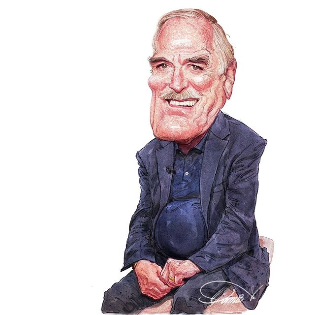 caricature illustration john cleese by stavros damos