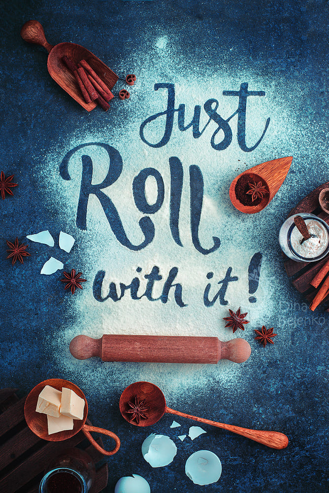 food art advertising idea photo manipulations just roll