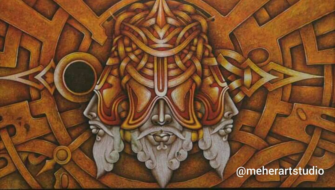 indian painting brahma