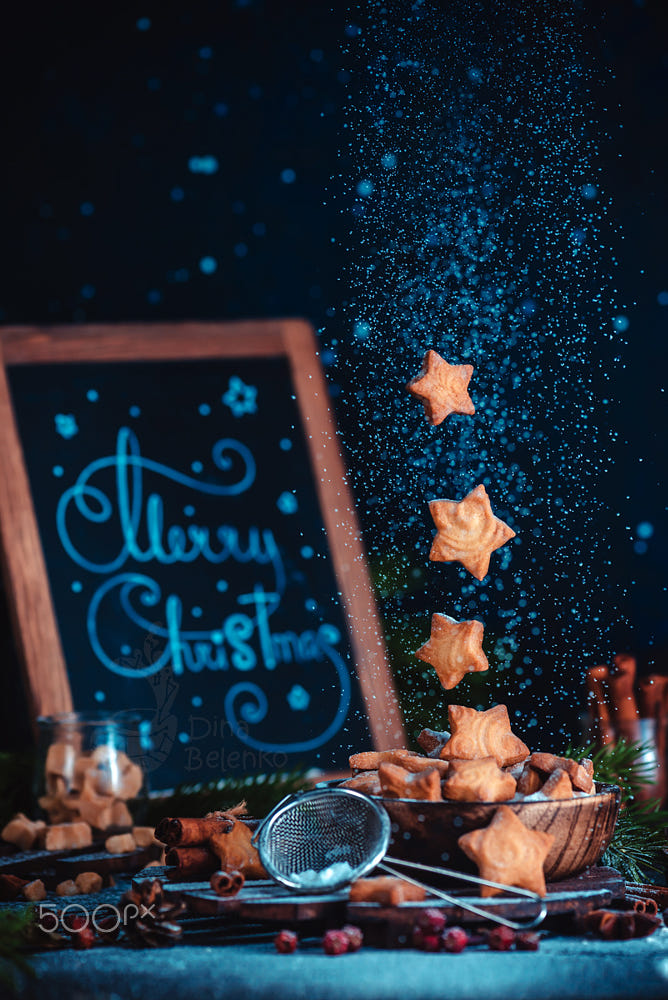 food art advertising idea photo manipulations merry christmas