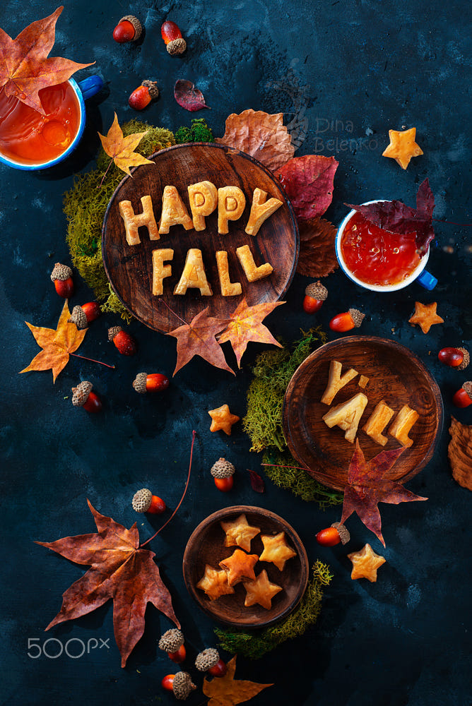 food art advertising idea photo manipulations happy fall by dina belenko