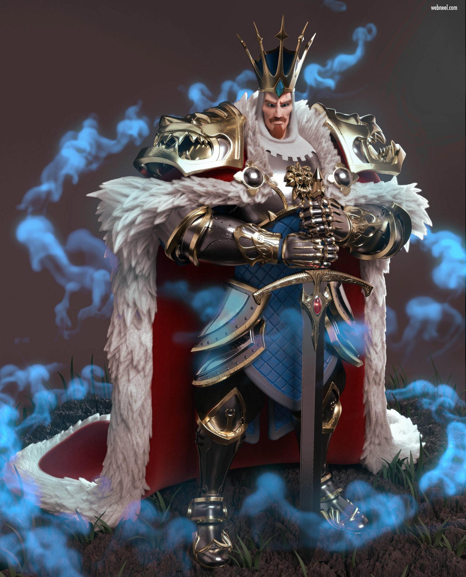 3d model character design king